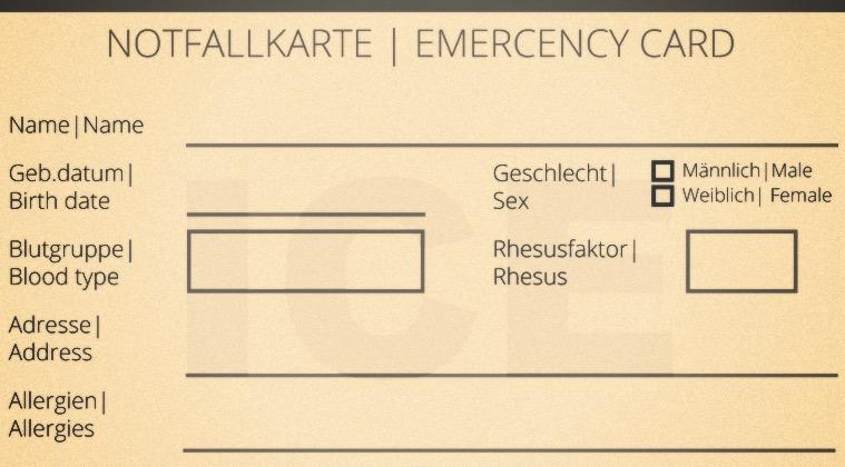 Tarjeta De Emergencia Para Descarga
