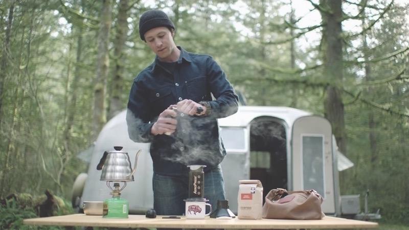 Caravana con aroma de café