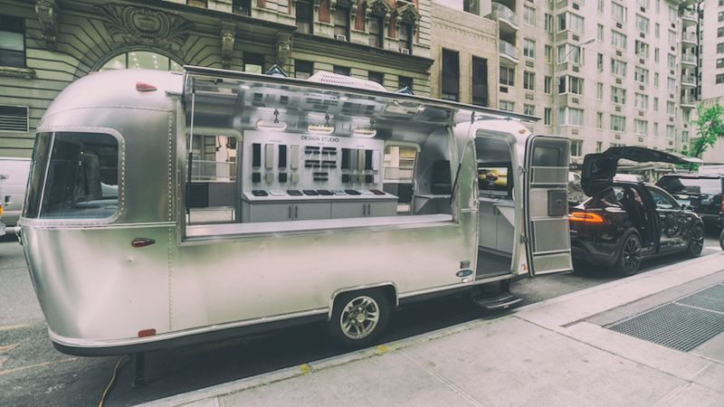 Tesla Airstream Mobile Design Studio